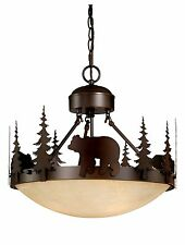 Bear vaxcel Yellowstone Rustic Country Chandelier Bozeman Lodge Light CF55718BBZ
