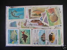 ******* POISSONS : 500 TIMBRES TOUS DIFFERENTS ********