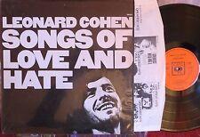LEONARD COHEN: SONGS DE L'AMOUR ET HATE (UK. L.P) 1971 CBS 69004