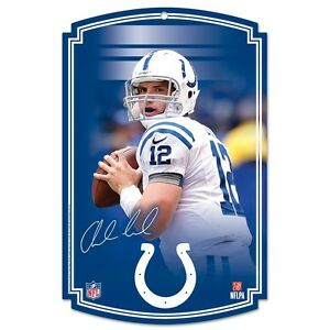 """ANDREW LUCK INDIANAPOLIS COLTS WOOD SIGN 11""""X17"""" BRAND NEW WINCRAFT"""