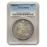 1860-O Liberty Seated Dollar MS-61 PCGS - SKU#167043