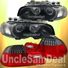 BMW E46 COUPE HALO RIM PROJECTOR BLACK HEADLIGHTS CORNER SMOKE LED TAIL LIGHTS