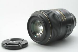 Nikon Nikkor AF-S 105mm F/2.8 G VR Micro Macro Lens - With Front and Rear Caps