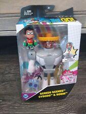 Rare Dc Teen Titans Go! Screen Scenes Cyborg & Robin Action Figure Set Nip