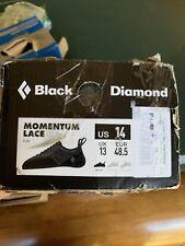 Black Diamond Momentum Men's Lace Climbing Shoe Size 14, Black