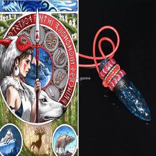 US SHIP! Anime Cosplay Princess Mononoke Hime Amulet Wolf Fangs Necklace Pendant
