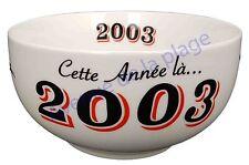 Bol année de naissance 2003 en grès - idée cadeau anniversaire neuf