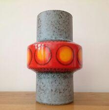 Dumler & Breiden XL Alemán Vintage Konstanza 70s Pop Art Florero de lava gordo de la era espacial