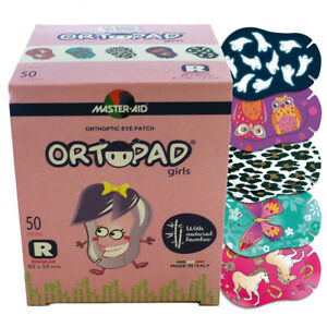 Ortopad® Bamboo Eye Patches for Girls, 50/Box (Regular Size),