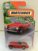 1963 AUSTIN HEALEY ROADSTER - 2018 Matchbox #87 - Red - MBX Road Trip