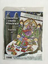 Design Works Joan Elliott Stained Glass Window Stocking Counted Cross Stitch Kit