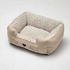 Kitty Cuddler Bed - Rectangular Cat Lounger Pillow with Walls