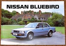 1985 NISSAN BLUEBIRD SALES BROCHURE-Saloon Estate ZX Turbo-NEW OLD STOCK!!