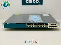 Cisco WS-C3560X-24P-L • 24 Port Gigabit PoE+ Switch ■ COMES WITH C3KX-NM-1G ■