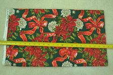 """33"""" Long x 44"""" Wide, Christmas Floral on Quilter's Cotton, Alexander Henry M5720"""