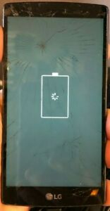 LG G4 LS991 32GB Black (Unknown) Smartphone PARTS REPAIR Boot Freeze Cracked
