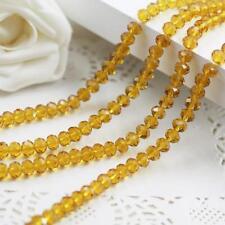 6x8 mm, jaune Transparent , naturel facetté cristal , perles lâches , 68 pcs