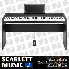 Korg B1 ( B-1 ) Digital Electric Natural Weighted Piano Black w/ Wooden Stand