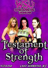 WSU Womens Wrestling - Testament of Strength DVD Alexa Thatcher