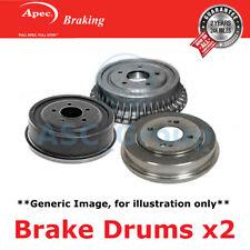 2x Apec 272mm (Internal) 6 Stud Replacement Rear Handbrake Brake Drums DRM9951