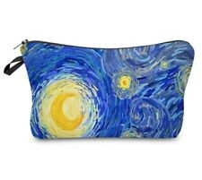 art starry night cosmetic bag makeup organiser printed make up case Van Gogh