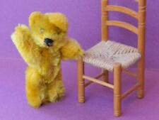 SCHUCO JOINTED MINIATURE MOHAIR PICCOLO TEDDY BEAR 'CHAS' VINTAGE 1950s 2 3/4""