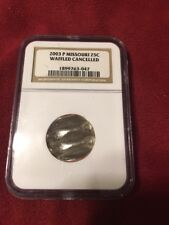 2003-P Missouri State Silver Quarter Waffle Cancelled NGC