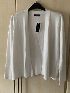 White Cardigan By Papaya New Size 18