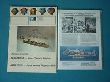 Ausschneide- und Modellbaubogen aus Papier: Unterseeboot Nautilus und Albatross