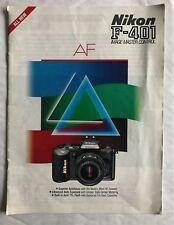 Nikon F-401, 1987 Product Brochure