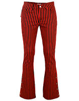 NEW Sixties Mod Indie Military look Bootcut FLARES Retro Striped JEANS 60s JM951