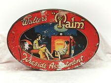 More details for walters palm toffee fireside assortment-large vintage sweet tin-family picture