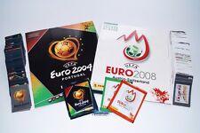 PANINI EURO 2004 & 2008-Set completo 04 + 08 + album + SACCHETTI