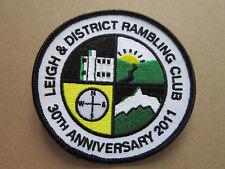 Leigh & District Rambling Club 30th Ann. Walking Hiking Cloth Patch Badge (L3K)