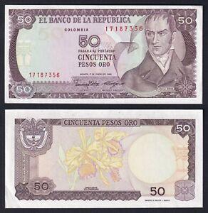 Colombia 50 pesos oro 1986 FDS-/UNC-  B-05