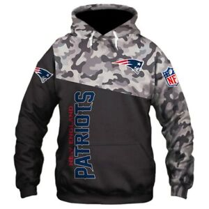 NEW ENGLAND PATRIOTS Unisex Hoodie Hooded Pullover S-5XL Football Team Logo NEW