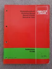 DEUTZ FAHR FH900 FORAGE HARVESTER WORKSHOP MANUAL