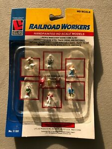 Life-Like H.O. Scale  Set of 6 Hand painted Railroad Workers No. 1130