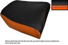 ORANGE & BLACK CUSTOM FITS MOTO GUZZI STELVIO 1200 07-13 REAR LEATHER SEAT COVER