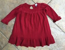 Gymboree HOLIDAY MEMORIES EUC 6-12 months Red ribbon sweater dress Christmas !!!