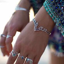 Bohemina Women Ethnic Vintage Cuff Bangle Hollow Flower Open Bracelet Jewelry
