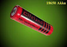 1 x 18650 Akku bis 4200 mAh, 65 x18 mm 3,7 V Eifeland Power Li-ion Akku Neu