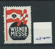 wbc. - CINDERELLA/POSTER - CF44 - EUROPE - WIENER  MESSE - 1933