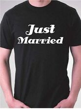 Just married funny mens wedding shirt newlywed mens tshirts honeymoon t-shirts