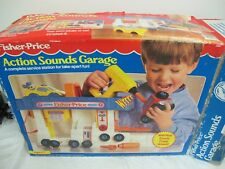 VINTAGE FISHER PRICE ACTION SOUNDS GARAGE NOT COMPLETE W BOX 1992