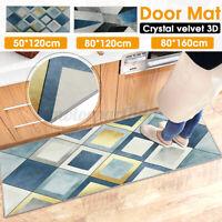 Floor Rug Area Carpet Bedroom Living Room Soft Printed Traditional Geometric