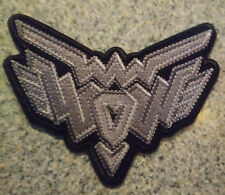 Wendy O Williams PLASMATICS the WOW LOGO patch NEW FREE SHIPPING