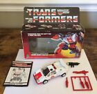 VTG 1985 Hasbro Transformers G1 Autobot Security Director Red Alert Fire Chief
