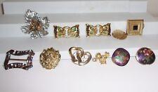 Lot of Women's Buckle & Scarf Clip Accessories Cloisonne, Abalone, Lion, Vintage