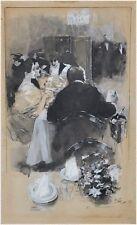 Friedrich Stahl (1863-1940) - Vornehme Gesellschaft in einem Restaurant
